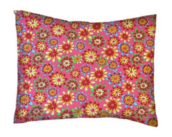 SheetWorld - SheetWorld Twin Pillow Case - Percale Pillow Case -Floral Candy Pink-Made in USA - Twin pillow case. Made of an all cotton woven fabric. Side Opening. Features a beautiful floral candy pink print.