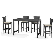 Contemporary Indoor Pub And Bistro Tables Anguilla Bar Table By Zuo Modern