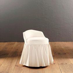 Ballard Designs - Swivel Stool Slipcover - Sewn of machine washable cotton. Spot clean.