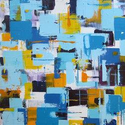 "THE BLUES by Elizabeth Conley - ELIZABETH CONLEY, The Blues, 2011. Acrylic painting on stretched canvas. 24"" h x 24"" w x 1.75"" d."