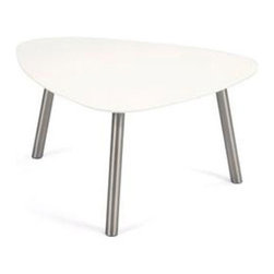 Small Reuleaux Side Table in White - It's a simple design, but the rounded wedge shape of this chic side table does a lot of work. Set this smooth darling up next to a daring chair for some intriguing surface space with hot curves.
