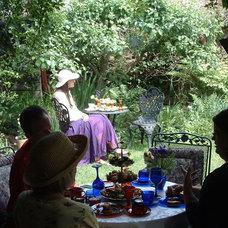 Eclectic  backyard tea party