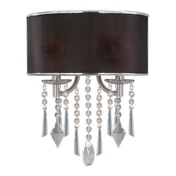 Golden Lighting - Echelon 1-Light Wall Sconce - Walls need glamour too. This amazing sconce makes a chic addition to your hallway or bedroom. It features strands of glistening beads with decorative crystals on the ends.
