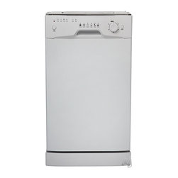 "Danby - 18"" Built-In Dishwasher - White - 18 inch built in dishwasher, 8 place setting capacity with silverware basket, Energy star compliant, 6 wash programs, Simple electronic controls, Durable stainless steel spray arm and interior, Integerated water softner system, Rinse agent dispenser, Automatic detergent dispenser, Unit dimensions (17 8/16 x 22 8/16 x 32 8/16)"