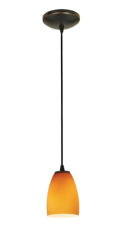 Access Lighting - Access Lighting 28069-2C-ORB/OPL Sydney Inari Silk 18W CFL Contemporary Cord Min - This graceful design displays a charming dome shaped glass and adds contrast and depth to any room.