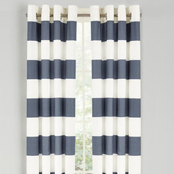 Nautica - Nautica Cabana Stripe Drape Set - Cadet Blue - 200657 - Shop for Curtains and Drapes from Hayneedle.com! Add a little French flair to any room with the Nautica Cabana Stripe Drape Set - Cadet Blue. The 84-inch long woven slub duck cloth drapes will cascade your windows and flow in the breeze on a warm day. This set comes complete with two drapes and matte silver grommets to ensure sturdiness.About NauticaNautica offers quality design and value while capturing the essence of an active adventurous and spirited lifestyle. Nautica took its name from the Latin word Nauticus for ship. Since one of mankind's first accomplishments in exploring the world was to take to the seas a spinnaker logo was designed as a symbol of adventure action and classicism.Founded in 1983 Nautica has evolved from a collection of men's outerwear to a leading global lifestyle brand with products ranging from men's women's and children's apparel and accessories to a complete home collection. Now part of VF Corporation a leader in branded quality apparel Nautica has become one of the most important American lifestyle brands throughout the world.