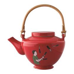 Piling Palang - Piling Palang - Acrobats Tea Pot - Ceramic Tea Pot from the Acrobats Collection