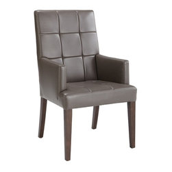 Sunpan - Sunpan Rossi Armchair - 20588 - Shop for Dining Chairs from Hayneedle.com! Pull up the Sunpan Rossi Armchair and enjoy sleek comfort! This armchair features tufted bonded leather upholstery and makes a great addition to contemporary and transitional spaces. The solid wood frame is built for durability and tapered legs add character.About SunpanSunpan is a global furniture company. They specialize in designing and manufacturing contemporary- and transitional-style furnishings. Sunpan takes pride their designs which reflect international trends in fashion and interior design. Sunpan is the ideal choice for your modern home.