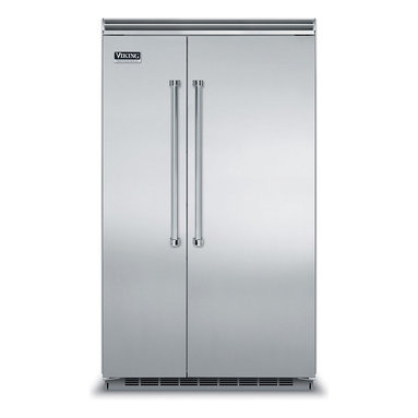 """48"""" Side-by-Side Refrigerator/Freezer - VCSB5483 - The Professional side-by-side refrigerator/freezer complements the professional-style kitchen in both form and function. The refrigerator maintains your desired temperature within one degree, while the freezer provides optimal frozen storage. ENERGY STAR® certified."""