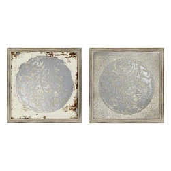 Paragon Art - Paragon Vine Motif Mirrors ,Set of 2 - Vine Motif Mirrors ,Set of 2   ,  Paragon  , Paragon has some of the finest designers in the home accessory industry. From industry veterans with an intimate knowledge of design, to new talent with an eye for the cutting edge, Paragon is poised to elevate wall decor to a new level of style.