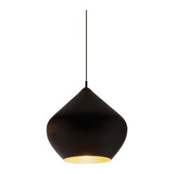 Tom Dixon Beat Light - Stout | ABC Carpet & Home - Designer Tom Dixon was inspired by the shapes of Indian water carrying vessels when he designed his group of four different pendant lights. Hang just one, grab a pair, or hang the entire group of four in a composition of your own creation.