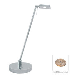 "Kovacs - Kovacs P4326-077 19"" LED Pharmacy Chrome Table Lamp from the George's Reading Ro - Kovacs P4326-077 LED PharmacyTable LampThere can be no illumination of the mind without the illumination of your environment. Focus this task oriented chrome LED table lamp wherever lighting is needed. Whether reading a novel in bed or working in the office after hours, this 8 watt energy efficient lamp will project light wherever you need it.Kovacs P4326-077 Features:"
