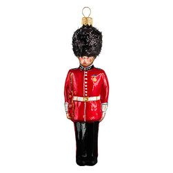 Frontgate - British Guard Ornament - Each ornament takes up to 7 days to produce. Constructed of 100% European-made glass. Arrives in a handsome black lacquered box for gifting and safekeeping. Hanger is included for easy display. Our collectible British Guard Ornament from Joy to the World was created with the utmost attention to quality and detail. The finest artisans in Poland individually mouth blow and hand paint each ornament, achieving new levels of innovation and artistic integrity in their designs. Using only traditional old world production methods and materials sourced from European countries, they ensure that each ornament is an impressive work of art that will be treasured for generations. . . . . Made in Poland.