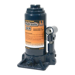 Buffalo Tools - Black Bull 8 Ton Hydraulic Bottle Jack - With an 8 Ton lifting capacity, this Bottle Jack can lift loads weighting up to 16,000 lbs. Change the tires on cars, trucks, and trailers or make repairs to your tractor, combine or hay baler. Small, portable and reliable, this is a great jack to keep nearby for emergency repairs.