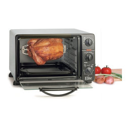 Maxi-Matic - Maxi-Matic ERO-2008N Elite Cuisine Toaster Oven with Rotisserie Multicolor - ERO - Shop for Toaster Ovens from Hayneedle.com! With the Maxi-Matic ERO-2008N Elite Cuisine Toaster Oven with Rotisserie you'll be whipping up delicious meals for your family in no time at all. Offering bake broil toast and rotisserie functions it has a large oven capacity of 23 liters for cooking large meals and enough depth to be able to bake a frozen pizza. The heat selector switch and adjustable temperature knob give you maximum control over your cooking cycle while the 60-minute timer with indicator light takes all the guesswork out of cooking. With a sleek grey body and black front this smart appliance adds oodles of style to your kitchen counter.Accessories IncludeGrilling rackRoasting panCrumb trayRotisserie spitRemoval tongsAbout Maxi-MaticMaxi-Matic U.S.A has been an established provider of small kitchen appliances and other various household items for more than 25 years. From exclusively marketing the Pillsbury line to developing its own range of brands Maxi-Matic features products that are carried by all major U.S. retailers today. Committed to offering the best quality and pricing in today's market Maxi-Matic strives to provide the best consumer products under world-class brands such as Elite (Cuisine) by Maxi-Matic Elite (Gourmet) by Maxi-Matic Elite (Platinum) by Maxi-Matic Elite Home by Maxi-Matic Maxi-Sonic and Mr. Freeze.