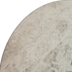SCABOS TILE - Silver Marble Corner Shelf - Silver Marble