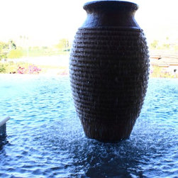 D- Jarrah fountain - This projects feature two different free standing fountains and many pots and bowls.