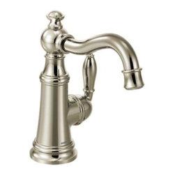 Moen - Moen Weymouth Single Handle Bar Faucet, Nickel (S62101NL) - Moen S62101NL Weymouth Single Handle Bar Faucet, Nickel