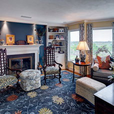 Traditional Family Room by lisa limited