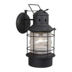 Vaxcel Lighting - Vaxcel Lighting OW37001TB Nautical Transitional Outdoor Wall Sconce - Vaxcel Lighting OW37001TB Nautical Transitional Outdoor Wall Sconce