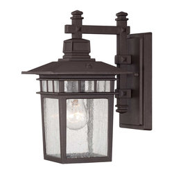 """Savoy House - Savoy House 5-9590-330 Linden 7"""" Wall Lantern - Linden, an exterior collection from Savoy House, has classic craftsman influences. The Textured Bronze finish is accented by Seedy glass."""