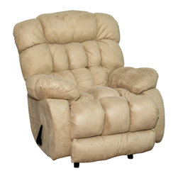 Royola Pacific - Soft Suede Taupe Contemporary Rocker Recliner - Soft suede taupe upholstery