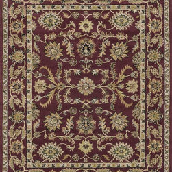 "Loloi Rugs - Loloi Rugs Maple Collection - Red / Red, 7'-9"" x 9'-9"" - Transform your home into a manor steeped in elegance and tradition with the majestic Maple Collection. These timeless Persian designs carry the rich heritage of centuries of carpet making in each arabesque, stylized flower and intricate border. Maple Collection rugs are hand-tufted in India of 100-percent wool so they are eco-friendly and mindfully crafted with sustainable materials. With colors as rich as these, you will feel like nobility every time you walk into your home."