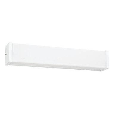 Seagull - Seagull Fluorescent Energy Star fixtures Bathroom Lighting Fixture in White - Shown in picture: 49024LE-15 Two Light Multi-volt Square Fluorescent Strip in White Finish in White finish; Energystar Compliant; Energystar Compliant