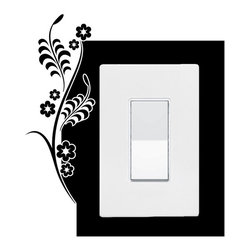 StickONmania - Lightswitch Plants #4 Sticker - A vinyl sticker decal to decorate a lightswitch.  Decorate your home with original vinyl decals made to order in our shop located in the USA. We only use the best equipment and materials to guarantee the everlasting quality of each vinyl sticker. Our original wall art design stickers are easy to apply on most flat surfaces, including slightly textured walls, windows, mirrors, or any smooth surface. Some wall decals may come in multiple pieces due to the size of the design, different sizes of most of our vinyl stickers are available, please message us for a quote. Interior wall decor stickers come with a MATTE finish that is easier to remove from painted surfaces but Exterior stickers for cars,  bathrooms and refrigerators come with a stickier GLOSSY finish that can also be used for exterior purposes. We DO NOT recommend using glossy finish stickers on walls. All of our Vinyl wall decals are removable but not re-positionable, simply peel and stick, no glue or chemicals needed. Our decals always come with instructions and if you order from Houzz we will always add a small thank you gift.