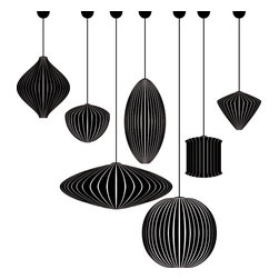 George Nelson Mid-Century Modern Bubble Lamps Complete Collection -