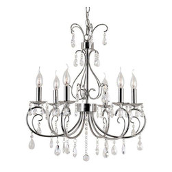 Trans Globe Lighting - Trans Globe Lighting 70366 PC Chandelier In Polished Chrome - Part Number: 70366 PC