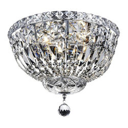 ELEGANT LIGHTING - Elegant Lighting Tranquil 4 Light Flush Mount in Chrome with Royal Cut Clear Cry - Bulbs are included.