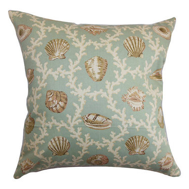 The Pillow Collection - Baul Blue 18 x 18 Nautical Throw Pillow - - Pillows have hidden zippers for easy removal and cleaning  - Reversible pillow with same fabric on both sides  - Comes standard with a 5/95 feather blend pillow insert  - All four sides have a clean knife-edge finish  - Pillow insert is 19 x 19 to ensure a tight and generous fit  - Cover and insert made in the USA  - Spot clean and Dry cleaning recommended  - Fill Material: 5/95 down feather blend The Pillow Collection - P18-MVT-1506-C100