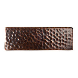 The Copper Factory - The Copper Factory Solid Hammered Copper 6 x2 Inch Accent Tile Copper - The Copper Factory Solid Hammered Copper 6 x2 Inch Accent Tile Copper