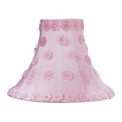 Jubilee Collection - Medium Shade - Petal Flower - Pink - Material: silk, metal. 4 x 10 x 8 in.
