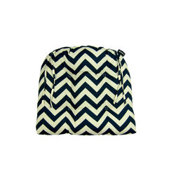 Lava - Chevron Night Dining Chairpad (Indoor/Outdoor) - 100% polyester cover and fill. Suitable for use indoors or out. Made in USA. Spot clean only