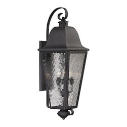 Elk Lighting - Forged Brookridge 4-Light Outdoor Sconce in Charcoal - Forged Brookridge Collection 4 light outdoor sconce in charcoal