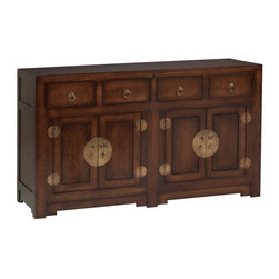 Ming Chest Brown TV Lift Cabinet - Traditional Asian styling gives the Ming Chest Brown TV Lift Cabinet a timeless look while offering the modern feature of lifting your screen for viewing and storing for out of sight.   A reliable quality lift system is matched with an infrared relay that operates your components while stored inside the cabinet for a clean elegant look.  Solid maple wood construction built in the USA by trained Amish craftsmen. TV not included.