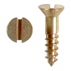 "Renovators Supply - Screws Brass set of 25 #4 1/2"" Flat Head Screw - Screws. Package of 25 brass flat head 1/2"" screws."