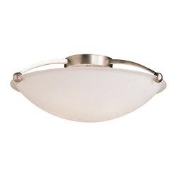 KICHLER - KICHLER 8407NI Transitional Semi Flush Mount Ceiling Light - KICHLER 8407NI Transitional Semi Flush Mount Ceiling Light