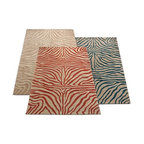 Spello Zebra Outdoor Rug - This rug is playful and fun. The zebra stripe in red is really an eyecatcher for a room, especially if you have understated furniture.