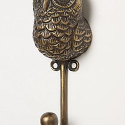 """Anthropologie - Creature Kingdom Hook, Owl - Hardware requiredBrass5.5""""H, 2""""W1.5"""" projectionImported"""