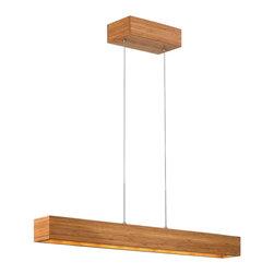 Fredrick Ramond - Fredrick Ramond Zen Bamboo Linear Pendant - Fredrick Ramond Zen FR46205BAM Bamboo Linear Pendant