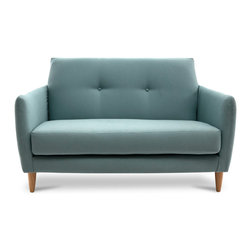 Bryght - Ballot Jade Loveseat - Sophisticated tones with a mid century modern appeal, the Ballot loveseat is a comfortable yet aesthetically pleasing piece. Dress it up with your favorite pillows and throws.