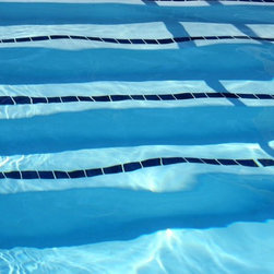Wallmonkeys Wall Decals - Swimming Pool Lanes Wall Mural - 72 Inches W x 48 Inches H - Easy to apply - simply peel and stick!