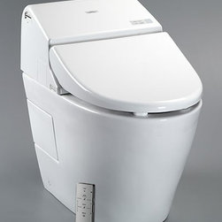 Toto Washlet With Integrated Toilet G500 1.28GPF/0.9GPF MS970CEMFG - 1.28 GPF (4.8LPF) / 0.9 GPF (3.4LPF)