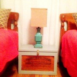 Dixon Remodel - antique chest as night stand