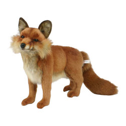 Hansa - Hansa Toys Red Fox - Hansa Red fox stands on all four legs and has a long, bushy tail. Hansa Red Fox is made from various shades of plush, including red, white and black. Hansa Red Fox has a black nose, dark eyes and whiskers. Ears stand up straight and paw pads are black. Ages 3 and up. Airbrushed for detail.