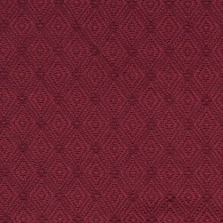 Burgundy Connected Diamonds Woven Matelasse Upholstery Grade Fabric By The Yard - This material is great for indoor upholstery applications. This Matelasse is rated heavy duty, and is upholstery weight. It is woven for enhanced appearance.