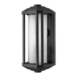 Hinkley - Hinkley Castelle One Light Black Outdoor Wall Light - 1390BK-GU24 - This One Light Outdoor Wall Light is part of the Castelle Collection and has a Black Finish. It is Outdoor Capable, and Wet Rated.